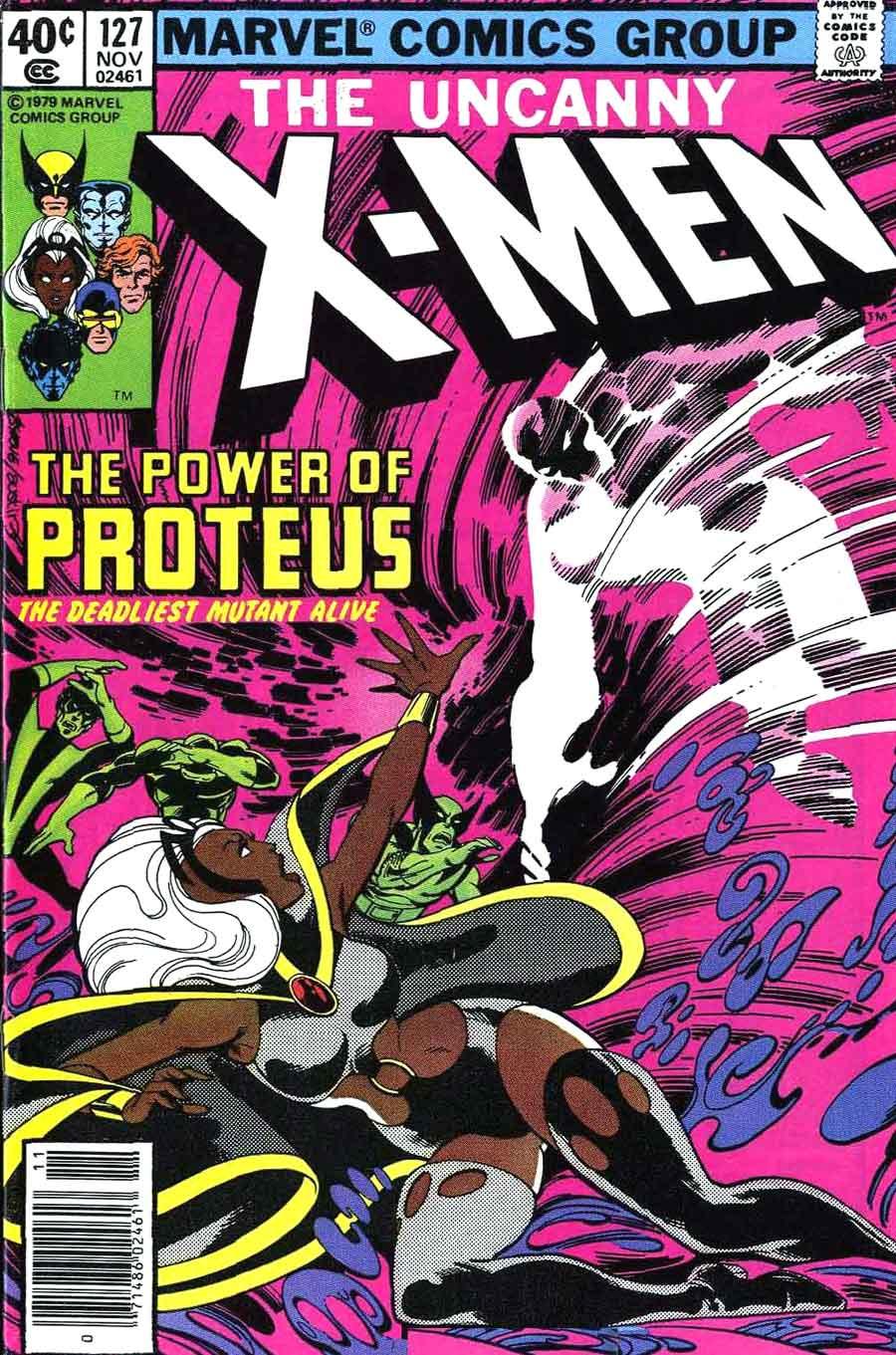 X-men v1 #127 marvel comic book cover art by John Byrne