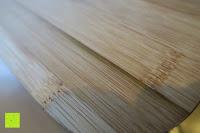 Muster: Brotkasten aus Bambusfaser mit Deckel aus Bambus | 42 x 23 x 12 cm | Bewahren Sie Ihr Brot luftdicht und hygienisch auf