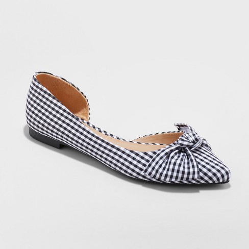 Jayme Bow Gingham flats