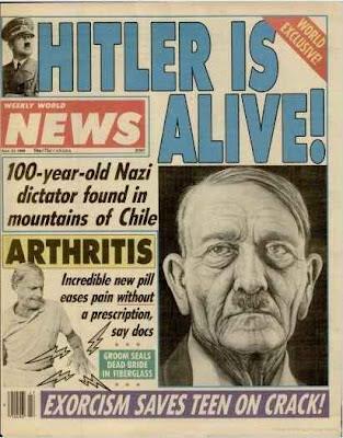 Adolf Hitler lebt lustig - witzige Zeitungen