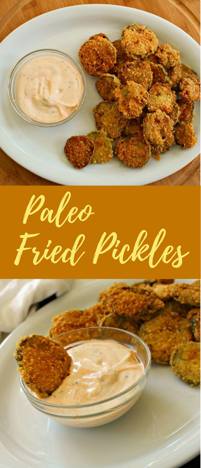 PALEO FRIED PICKLES #PaleoDiet #DietFood