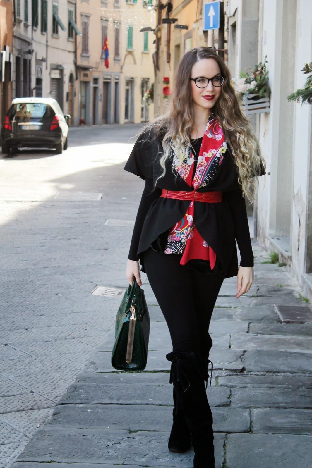 kimono style street fashion