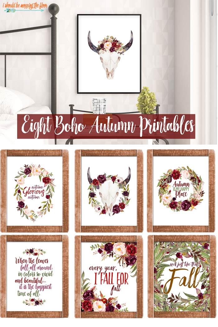 Boho Printables for Fall