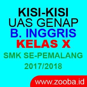 Kisi UAS Bahasa Inggris SMK