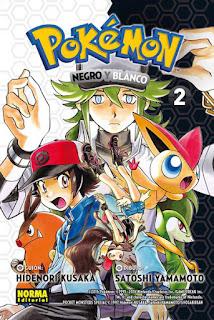 POKEMON 27 NEGRO Y BLANCO 2  Manga de Hidenori Kusaka y Satoshi Mato