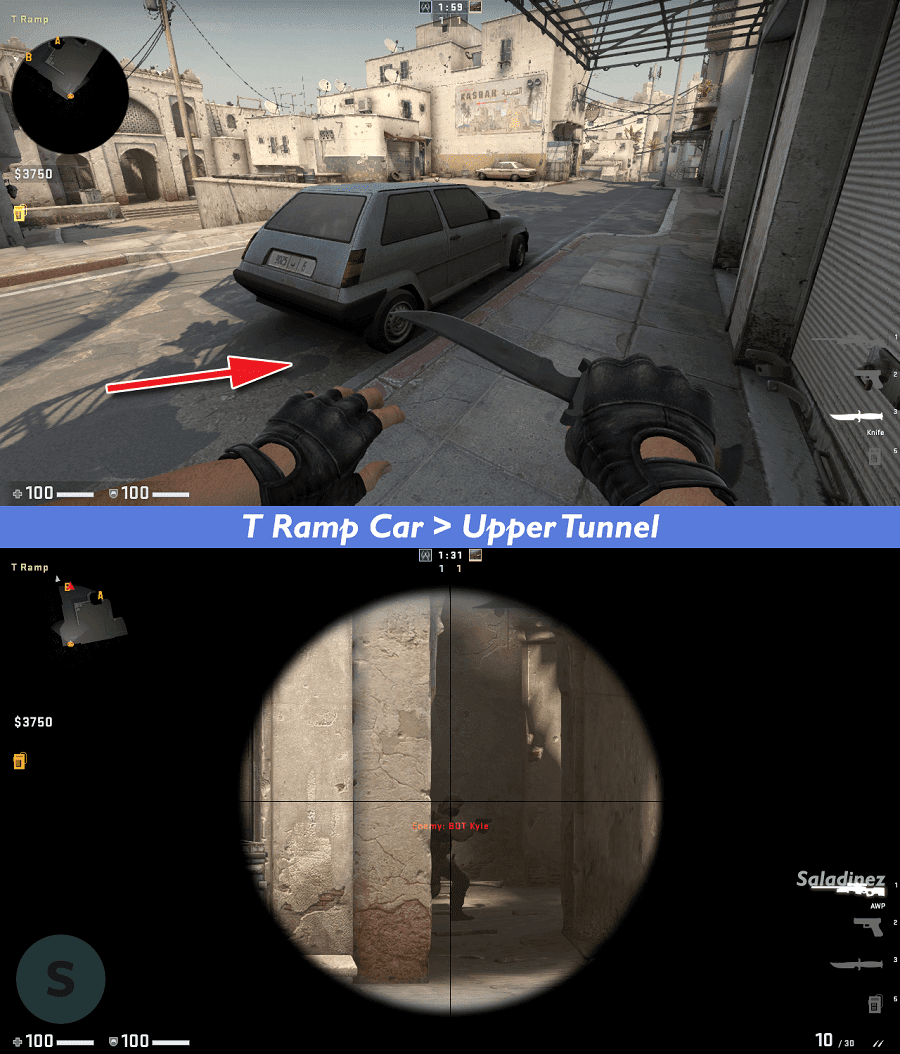 T Ramp Car > Upper Tunnel