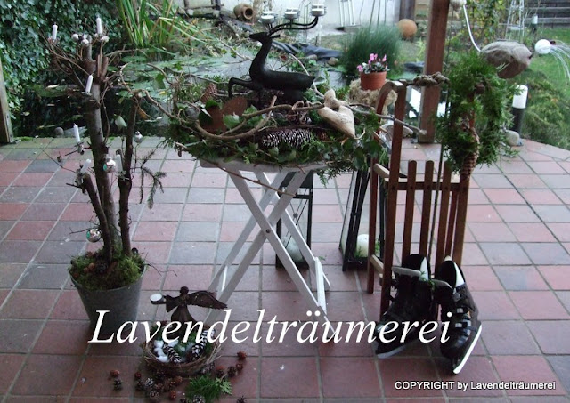 lavendeltr umerei adventdeko auf der terrasse 2012. Black Bedroom Furniture Sets. Home Design Ideas