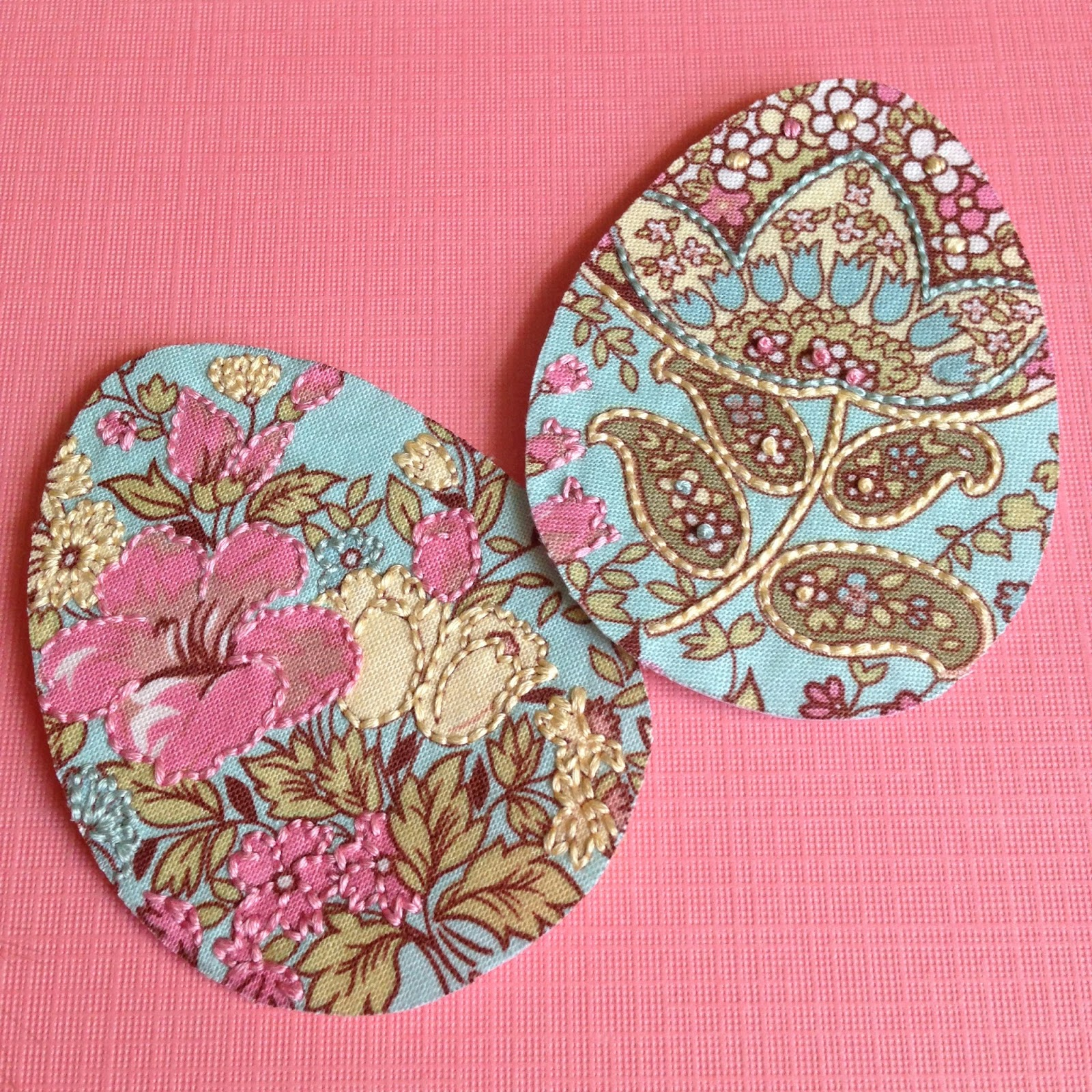 Kbb crafts stitches embroidered easter egg tags