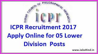 ICPR Recruitment 2017