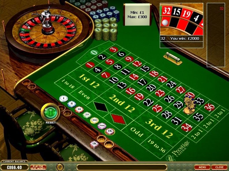 Prestige Casino Roulette Screen