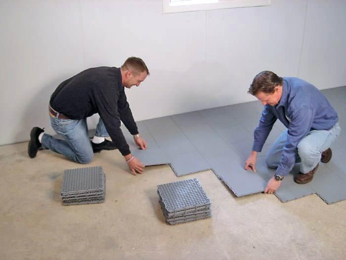 DRIcore for Basement Subfloor Installation