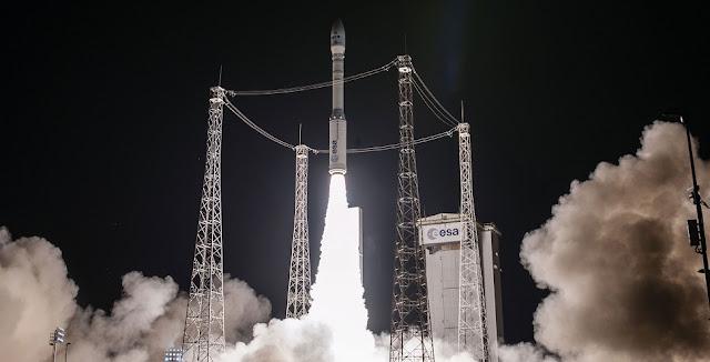 Vega VV07 liftoff. Image Credit: Arianespace