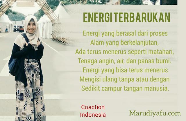 Saatnya Berkarya dengan Energi Terbarukan, energi terbarukan, Hemat energi, saatnya energi muda beraksi, pembangkit listrik