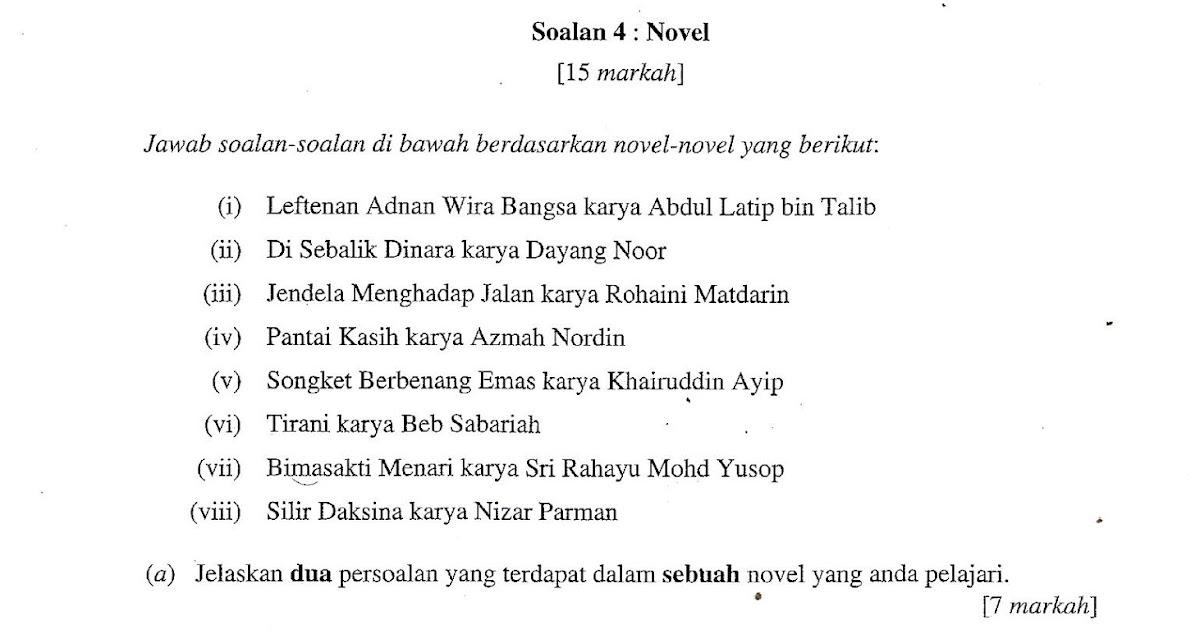 Contoh Soalan Novel Songket Berbenang Emas Persoalan S