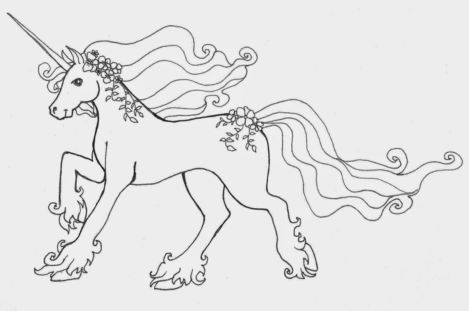 (free!) Original Coloring Pages: Unicorn
