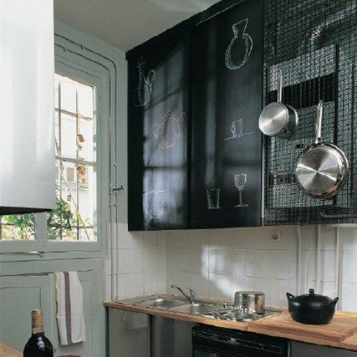 Boiserie c pittura lavagna chalk board paint 27 nuove idee - Lavagna per cucina ...