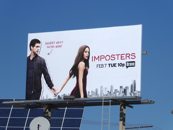Imposters Bravo series billboard
