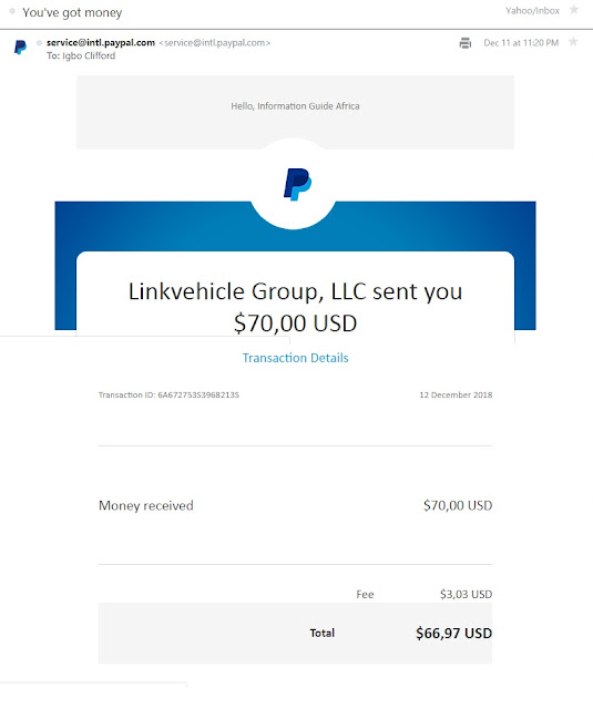 ValuedVoice payment proof