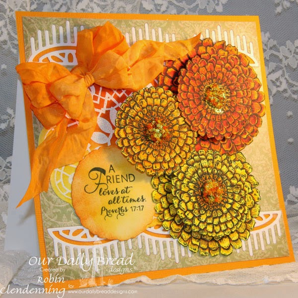 Our Daily Bread Designs, Zinnia, Doily Blessing, Beautiful Borders, Zinnia die, Blushing Rose Paper Collection, Designed by Robin Clendenning
