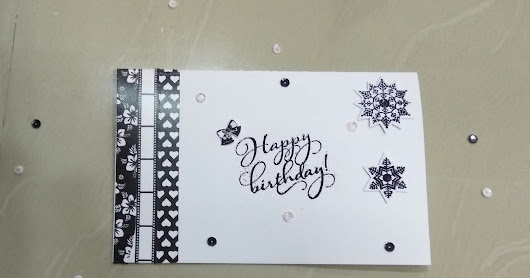 Birthday card for #mudra stamps challenge #7