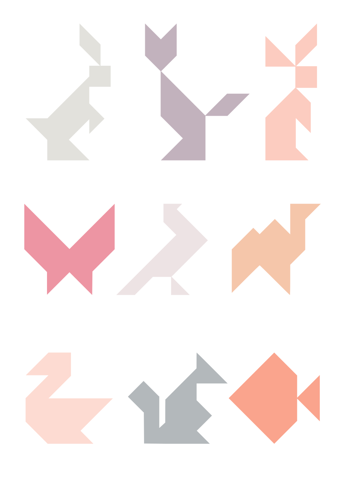 It's just a graphic of Free Printable Tangram Puzzles with regard to easy