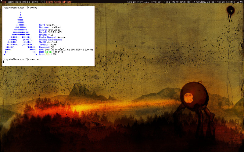 How to install & Configuring  Awesome window manager on Archlinux