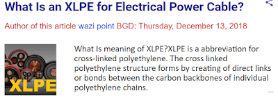 Specification of XLPE Insulated power cable