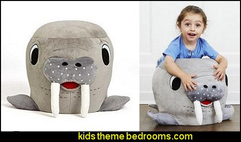 Stuffed Walrus Chair    penguin bedrooms - polar bear bedrooms - arctic theme bedrooms - winter wonderland theme bedrooms - snow theme decorating ideas - penguin duvet covers - penguin bedding - winter wonderland party ideas - Christmas
