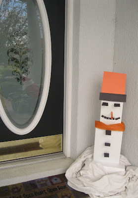 Recycled Snowman