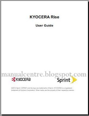 Kyocera Rise Manual Cover