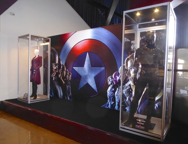 Captain America Civil War movie costume exhibit