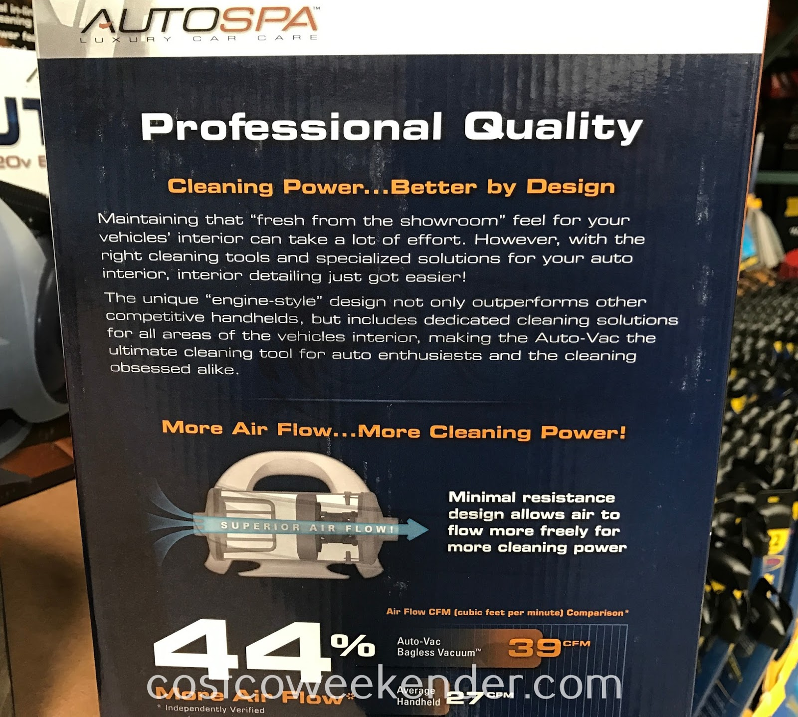 Autospa Auto-Vac 120v Bagless Vacuum: the right tool for that fresh-from-the-showroom look for your car