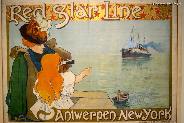 Museo Red Star Line, cartel publicitario - Amberes por El Guisante Verde Project