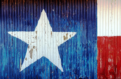 Texas Flag Wall and Street Art