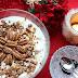 Adventskalendertürchen # 23 Weiße Schokomousse mit Pecannüssen oder mit Zimtkirschen und Spekulatius