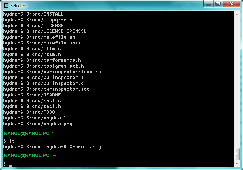 cygwin hydra gtk hacking