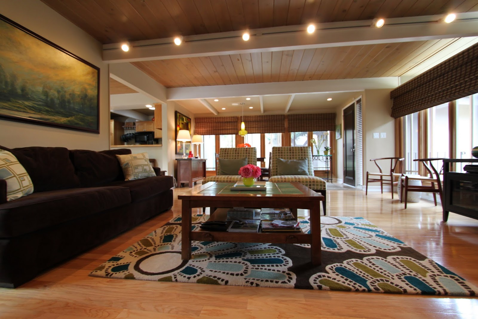 An eichler in orange mid century modern remodel - Mid century modern living room ...