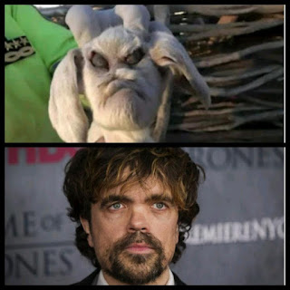 A deformed goat and Peter Dinklage