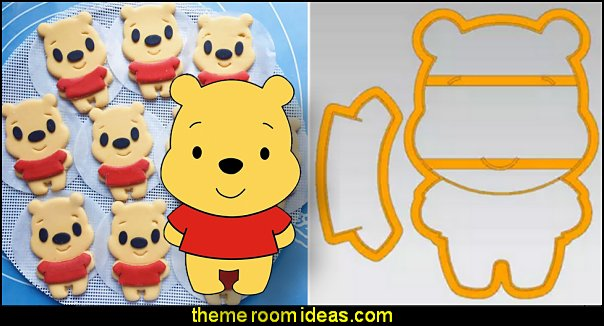 Winnie The Pooh Cookie Cutter Cake Decorating Tools  bee themed party - bumble bee decorations - Bumble Bee Party Supplies - bumble bee themed party - Pooh themed birthday party - spring themed party - bee themed party decorations - bee themed table decorations - winnie the pooh party decorations - Bumblebee Balloon -  bumble bee costumes