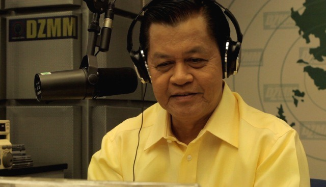 "Noli ""Kabayan"" De Castro on air."