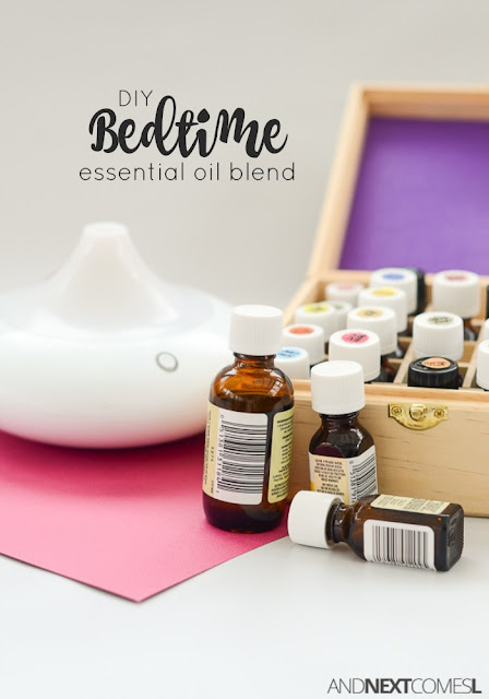 DIY calming bedtime essential oil blend for kids (or adults too!) from And Next Comes L