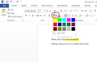 ms word me font color kaise change karen
