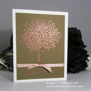 Card made with Stampin'UP!'s Sheltering Tree Stamp Set and Copper Embossing Powder