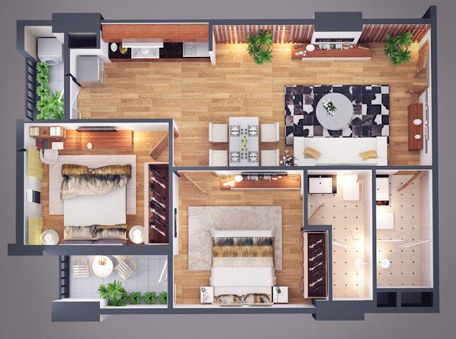 Thiết kế căn hộ 73m Athena Complex