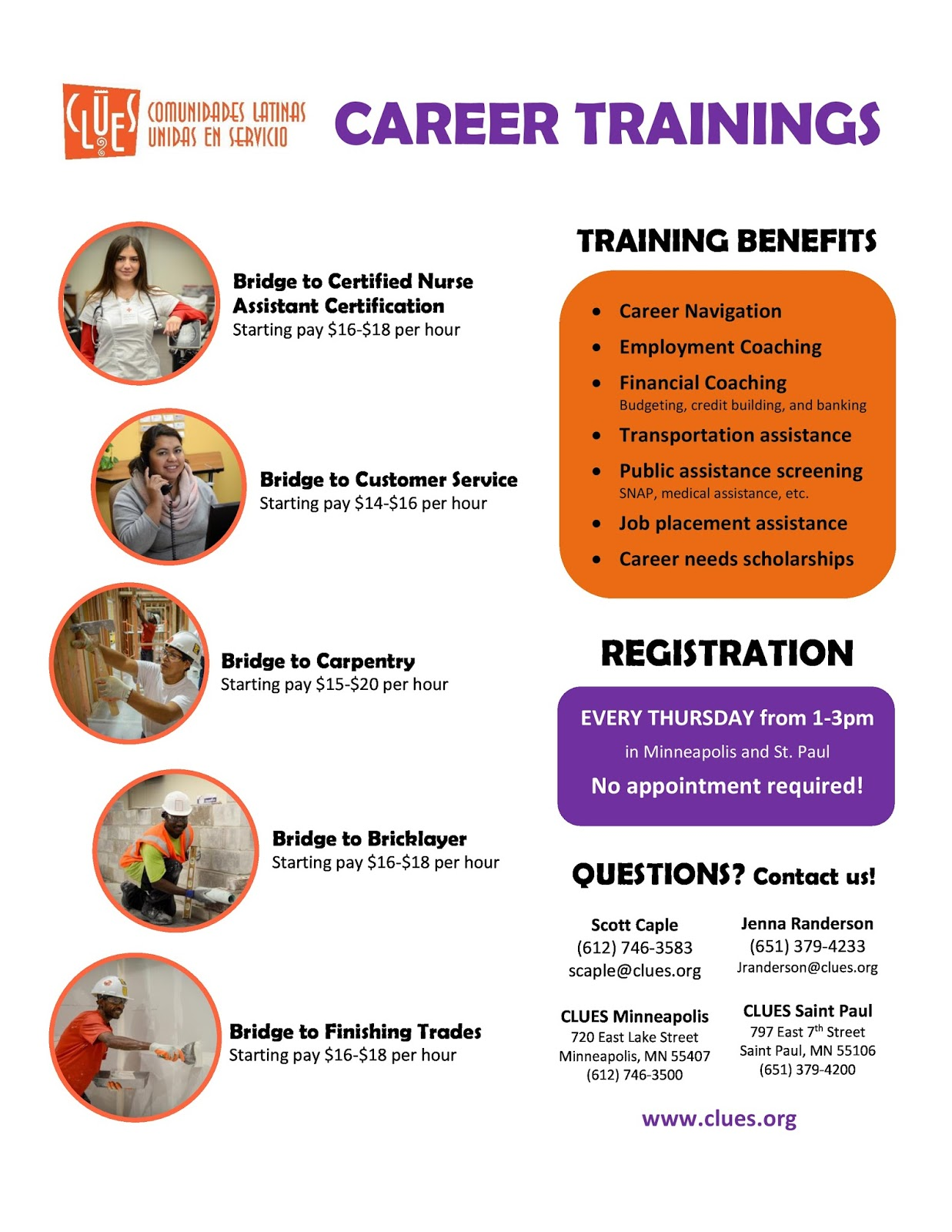 Clues jobs blog upcoming trainings and february career center calendars 1betcityfo Choice Image
