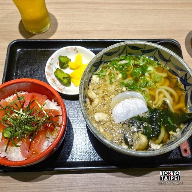 【Hanagoyomi】深夜的關西機場 吃熱騰騰烏龍麵和美味鐵火丼