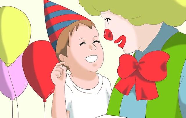 chú hề trong bữa tiệc sinh nhật