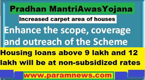 govt-approves-increase-in-carpet-areaof houses-pmay-paramnews