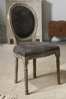 Silla roble tapizada clasica