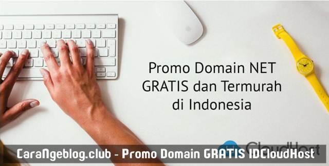 Promo Domain NET Gratis dan Termurah dari IDCloudHost Oktober 2016